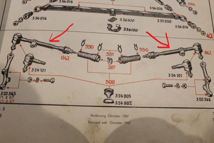 Kadett C  Spurstangenkopf von Spurstange für links oder rechts